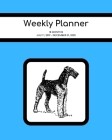 Weekly Planner: Airedale; 18 months; July 1, 2019 - December 31, 2020; 8