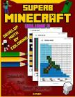 Superb Minecraft: Develop Math by Coloring Cover Image