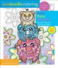 Zendoodle Coloring: Baby Farm Animals: Barnyard Friends to Color and Display Cover Image