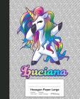 Hexagon Paper Large: LUCIANA Unicorn Rainbow Notebook Cover Image