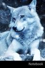Notebook: オオカミ、森、暗い、背景 ノー| Cover Image