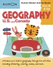 Geography: U.S. and Canada Sticker Activity Book Cover Image