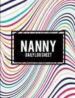 Nanny Daily Log Sheet: Beauty Abstract Art, 8.5