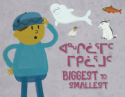 Biggest to Smallest: Bilingual Inuktitut and English Edition Cover Image