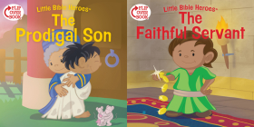 The Prodigal Son/The Faithful Servant (flip-over) (Little Bible Heroes™) Cover Image