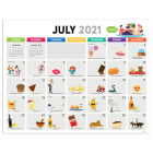 Cal 2022- Every Day's a Holiday Academic Year Desk Pad Cover Image