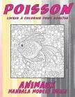 Livres à colorier pour adultes - Mandala Modèle facile - Animaux - Poisson Cover Image
