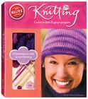 Knitting: Learn to Knit 6 Great Projects [With Yarn, Yarn Needle, Crochet Hook, Knitting Needles and 2 Buttons] Cover Image