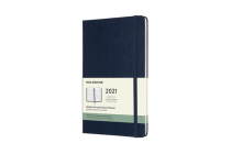 Moleskine 2021 Weekly Horizontal Planner, 12M, Large, Sapphire Blue, Hard Cover (5 x 8.25) Cover Image