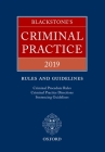Blackstone's Criminal Practice 2019: Rules and Guidelines Cover Image