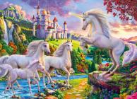 Unicorn Castle 1000-Piece Puzzle Cover Image