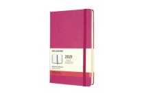 Moleskine 2021 Daily Planner, 12M, Large, Bougainvillea Pink, Hard Cover (5 x 8.25) Cover Image