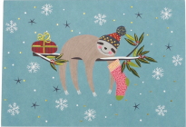 Festive Sloths Small Boxed Holiday Cards Cover Image