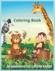 50 Baby Animals Coloring Book: A Coloring Book Featuring 50 Incredibly Cute and Lovable Baby Animals from Forests, Jungles, Oceans and Farms for Hour Cover Image