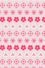 Notes: A Blank Isometric Graph Paper Notebook with Simple Pink Striped Flower Pattern Cover Art Cover Image