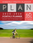 Monthly Planner 5 year: 2020-2024 Monthly Planner Calendar - internet login and password - 5 Year Goal Planner - Five Year Life Goal Plan - bi Cover Image
