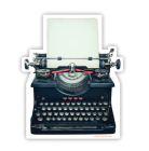 Typewriter Sticker Cover Image