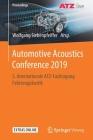 Automotive Acoustics Conference 2019: 5. Internationale Atz-Fachtagung Fahrzeugakustik (Proceedings) Cover Image