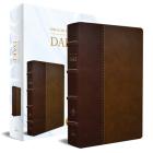 RVR 1960 Biblia de estudio Dake, tamaño grande, piel duotono marrón / Spanish RV R 1960 Dake Study Bible, Large Size, Duotone Brown Leather Cover Image
