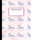 Composition Notebook: Beautiful Glitter Unicorn Pattern and Pink Marble Compositon Book for Girls, Kids, School, Students and Teachers (Wide Cover Image