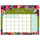 Cal 2022- Modern Flowers Academic Year Desk Pad Cover Image