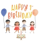 First birthday guest book (Hardcover) Cover Image