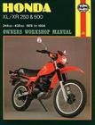 Honda XL/XR 250 and 500 Owners Workshop Manual:  78-84 (Owners' Workshop Manual) Cover Image