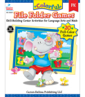 Colorful File Folder Games, Grade Pk: Skill-Building Center Activities for Language Arts and Math (Colorful Game Books) Cover Image