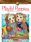 Creative Haven Playful Puppies Coloring Book Cover Image