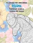 Malbücher für Erwachsene - Blumen für Frauen - Tierisches Mandala - Pferde Cover Image