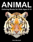Animal Coloring Books for Kids Ages 8-12: Animetrics Coloring Books with Dolphin, Fox, Shark and Deer Cover Image