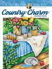 Creative Haven Country Charm Coloring Book (Adult Coloring) Cover Image