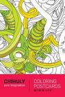 Chihuly Pure Imagination Coloring Postcards Cover Image