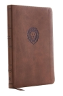 Kjv, Thinline Bible Youth Edition, Leathersoft, Brown, Red Letter Edition, Comfort Print Cover Image