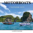 Motor Boats Calendar 2019: 16 Month Calendar Cover Image