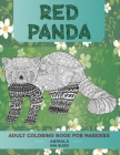 Adult Coloring Book for Markers Non Bleed - Animals - Red panda Cover Image
