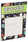 Spooky Coloring Book & Word Search Cover Image