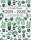 18 Month Planner July 2019-December 2020: Academic Agenda Planner Daily Weekly Organizer Time Management Schedule for Teacher, Student with Cactus Cov Cover Image
