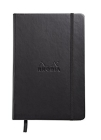Rhodia Webbie Hardcover Dot Grid 5 1/2 X 8 1/4 A5 Black Cover Notebook Cover Image