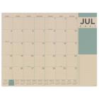 Cal 2022- Kraft Academic Year Desk Pad Cover Image