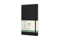 Moleskine 2021 Weekly Horizontal Planner, 12M, Large, Black, Soft Cover (5 x 8.25) Cover Image