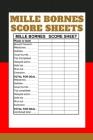 Mille Bornes Score sheets: Mille Bornes Score sheets Keeper - My Scoring Pad forMille Bornes Score sheets game- My Mille Bornes Score sheets Scor Cover Image