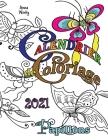 Calendrier de Coloriage 2021 Papillons Cover Image