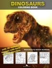 Dinosaurs Coloring book with realistic designs: With dinosaur facts Cover Image