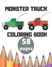 Monster Truck Coloring Book: Big Coloring Book For Kids Cover Image