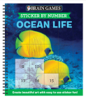Brain Games - Sticker by Number: Ocean Life (Square Stickers): Create Beautiful Art with Easy to Use Sticker Fun! Cover Image