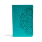 CSB Large Print Personal Size Reference Bible, Teal LeatherTouch Cover Image