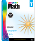 Spectrum Math Workbook, Grade 1 Cover Image