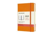 Moleskine 2021 Daily Planner, 12M, Pocket, Cadmium Orange, Hard Cover (3.5 x 5.5) Cover Image