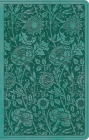 ESV Premium Gift Bible (Trutone, Teal, Floral Design) Cover Image